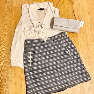 Cute Navy Skirt (size 2) from Mango